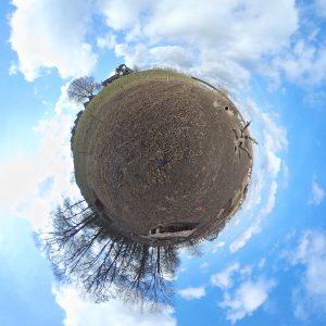 Little planet weergave van een 360 graden foto